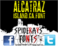 Illustration of font ALCATRAZ