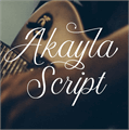 Illustration of font Akayla Script PERSONAL USE