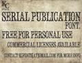Illustration of font Serial Publication