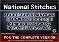 Illustration of font CF National Stitches