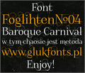 Illustration of font FoglihtenNo04