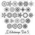 Illustration of font JI Kaleidoscope Bats 5