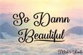 Illustration of font So Damn Beautiful
