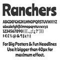 Illustration of font Ranchers