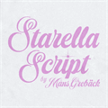 Illustration of font Starella Script PERSONAL USE