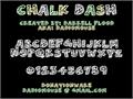 Illustration of font Chalk Dash