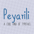 Illustration of font Peyarili