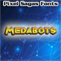 Illustration of font Medabots