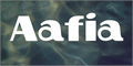 Illustration of font Aafia