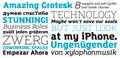 Illustration of font Amazing Grotesk
