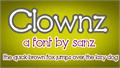 Illustration of font Clownz