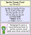 Illustration of font Sprite Comic