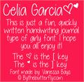Illustration of font Celia Garcia