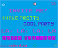 Illustration of font I Have Pretty Cool Party!