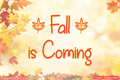 Illustration of font Fall is Coming
