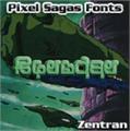 Illustration of font Zentran