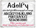 Illustration of font Adelfy_free-version