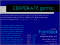 Illustration of font Corporate Gothic NBP