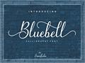 Illustration of font Bluebell