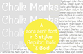 Illustration of font Chalk Marks