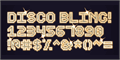 Illustration of font Disco Bling