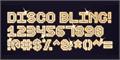 Illustration of font Disco Bling