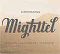 Illustration of font Mighttel