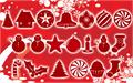 Illustration of font Christmas Shapes