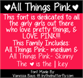Illustration of font All Things Pink