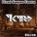Illustration of font Davek