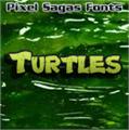 Illustration of font Turtles