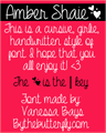 Illustration of font Amber Shaie