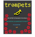 Illustration of font trompets