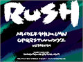 Illustration of font Rush