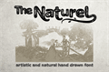 Illustration of font The Naturel Txt