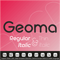 Illustration of font Geoma Thin Demo