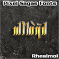 Illustration of font Rhesimol