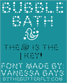 Illustration of font Bubble Bath