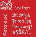 Illustration of font Strong Heart