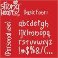 Illustration of font Strong Heart