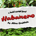 Illustration of font Habanero PERSONAL USE ONLY