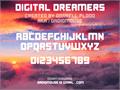Illustration of font Digital Dreamers