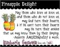 Illustration of font Pineapple Delight