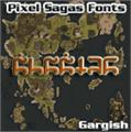 Illustration of font Gargish