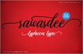 Illustration of font Sawasdee