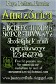 Illustration of font Amazónica