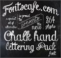 Illustration of font Chalk-hand-lettering-shaded_dem