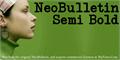 Illustration of font NeoBulletin Semi Bold