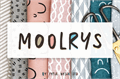 Illustration of font Moolrys