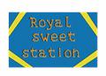 Illustration of font Royal sweet station